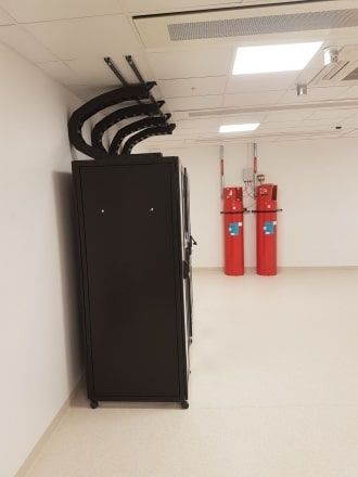Server Cabinets, Cooling System & Fire Suppression