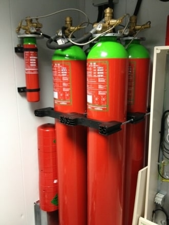 Data Centre Cooling and Fire Suppression Canister