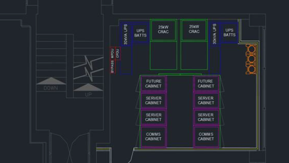 Data Centre Design in AUTOCAD Software