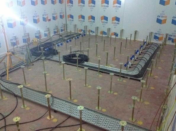 Data Centre Build Showing Raised Floor Installation