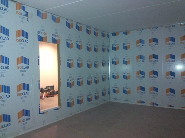 Data Centre Composite Walling, Securiclad Option With a Doorway Acess