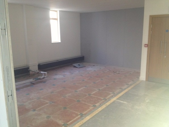 Data Centre Build Showing Old Unsuitable Floor Surface