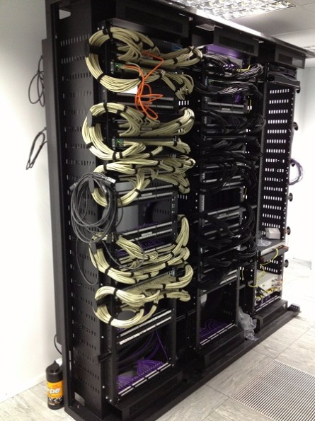Finished Data Centre Patch Frame